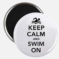 Keep calm and swim on Magnet