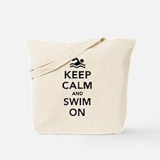 Keep calm and swim on Tote Bag