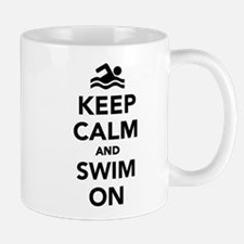 Keep calm and swim on Mug