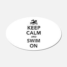 Keep calm and swim on Wall Decal