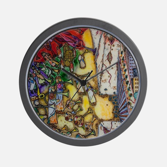 The trumpets of Jericho Wall Clock