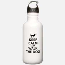 Keep calm and walk the dog Water Bottle
