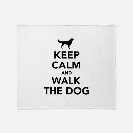 Keep calm and walk the dog Throw Blanket