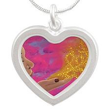 Let Go Silver Heart Necklace