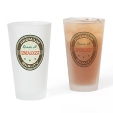 Genealogist Vintage Drinking Glass