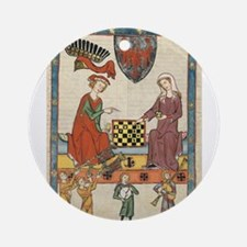 Chess Players Ornament (Round)
