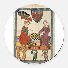 Chess Players Round Car Magnet