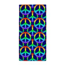 rainbow peace Beach Towel