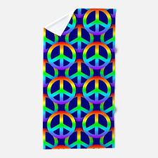 rainbow peace Beach Towel