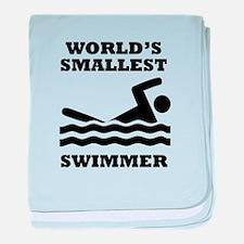 Worlds Smallest Swimmer baby blanket