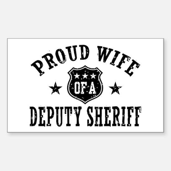 Proud Wife of a Deputy Sheriff Sticker (Rectangle)
