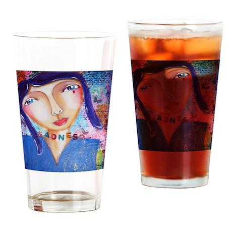 sadness Drinking Glass