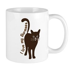 i love my burmese cat Mugs