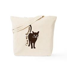i love my burmese cat Tote Bag