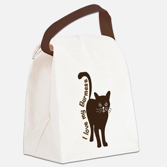 i love my burmese cat Canvas Lunch Bag