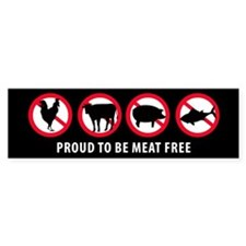 Proud To Be Meat Free | Bumper Sticker