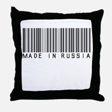 (Bar Code) Made in Russia Throw Pillow