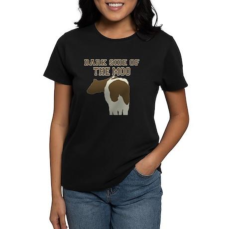 Dark Side Of The Moo Women's Dark T-Shirt