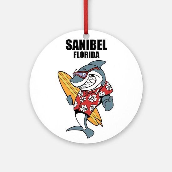 Sanibel, Florida Ornament (Round)