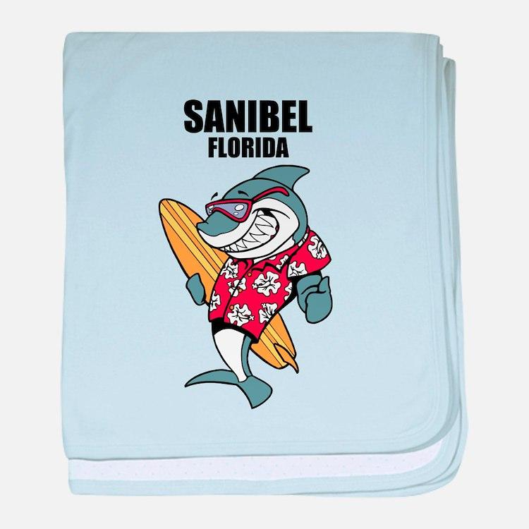 Sanibel, Florida baby blanket