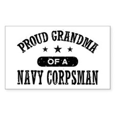 Proud Grandma of a Navy Corpsman Decal