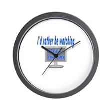 Rather Be Watching Grey's Anatomy Wall Clock