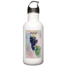 Merlot Wine Painting Water Bottle