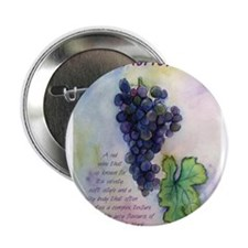"Merlot Wine Painting 2.25"" Button"
