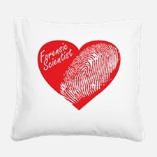 Latent Heart Square Canvas Pillow
