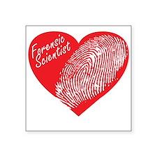 """Latent Heart Square Sticker 3"""" x 3"""""""