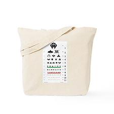 Inkblot Eye-Chart Tote Bag