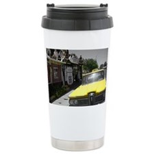 Yellow Vintage Cab Travel Mug