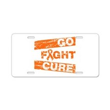 RSD Go Fight Cure Aluminum License Plate