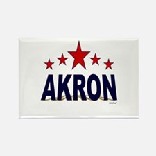 Akron Rectangle Magnet