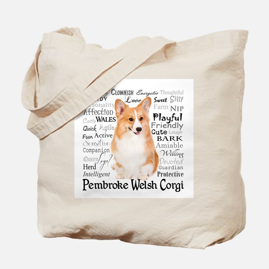 Corgi Traits Tote Bag