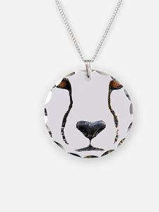 Cheetah Necklace Circle Charm