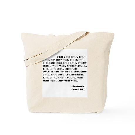 Emo Blog Tote Bag