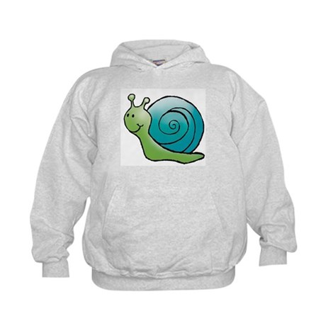 Green and Turquoise Snail Kids Hoodie