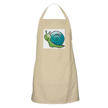 Green and Turquoise Snail BBQ Apron