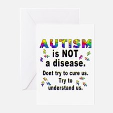 Autism is NOT a disease! Greeting Cards (Package o