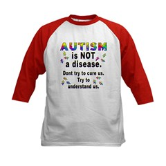 Autism is NOT a disease!(2-Sided) Kids Baseball Je
