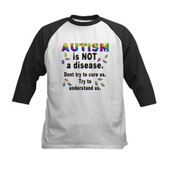 Autism is NOT a disease! Kids Baseball Jersey