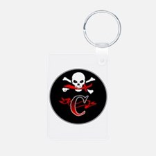 Jolly Roger C Initial Monogram Keychains