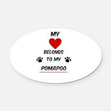 PomaPoo Oval Car Magnet