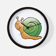 Orange and Green Snail Wall Clock