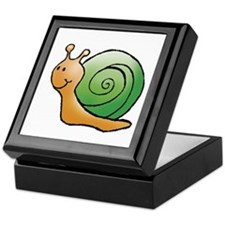 Orange and Green Snail Keepsake Box