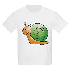 Orange and Green Snail Kids T-Shirt