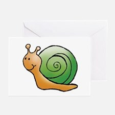 Orange and Green Snail Greeting Cards (Package of