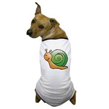Orange and Green Snail Dog T-Shirt