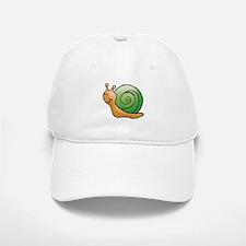 Orange and Green Snail Baseball Baseball Cap